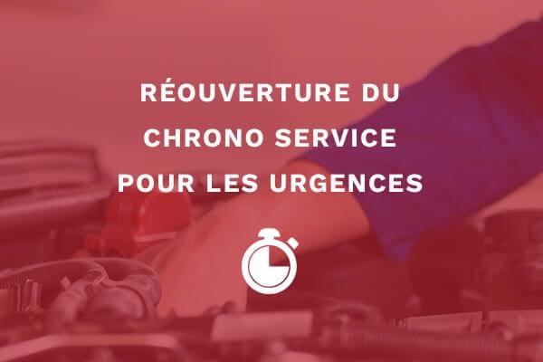 Réouverture du chrono service pour les urgences 1
